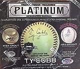 1 BOX: 2017 Tristar Hidden Treasures Platinum Edition Autographed Baseball (#'d to 36 or less)