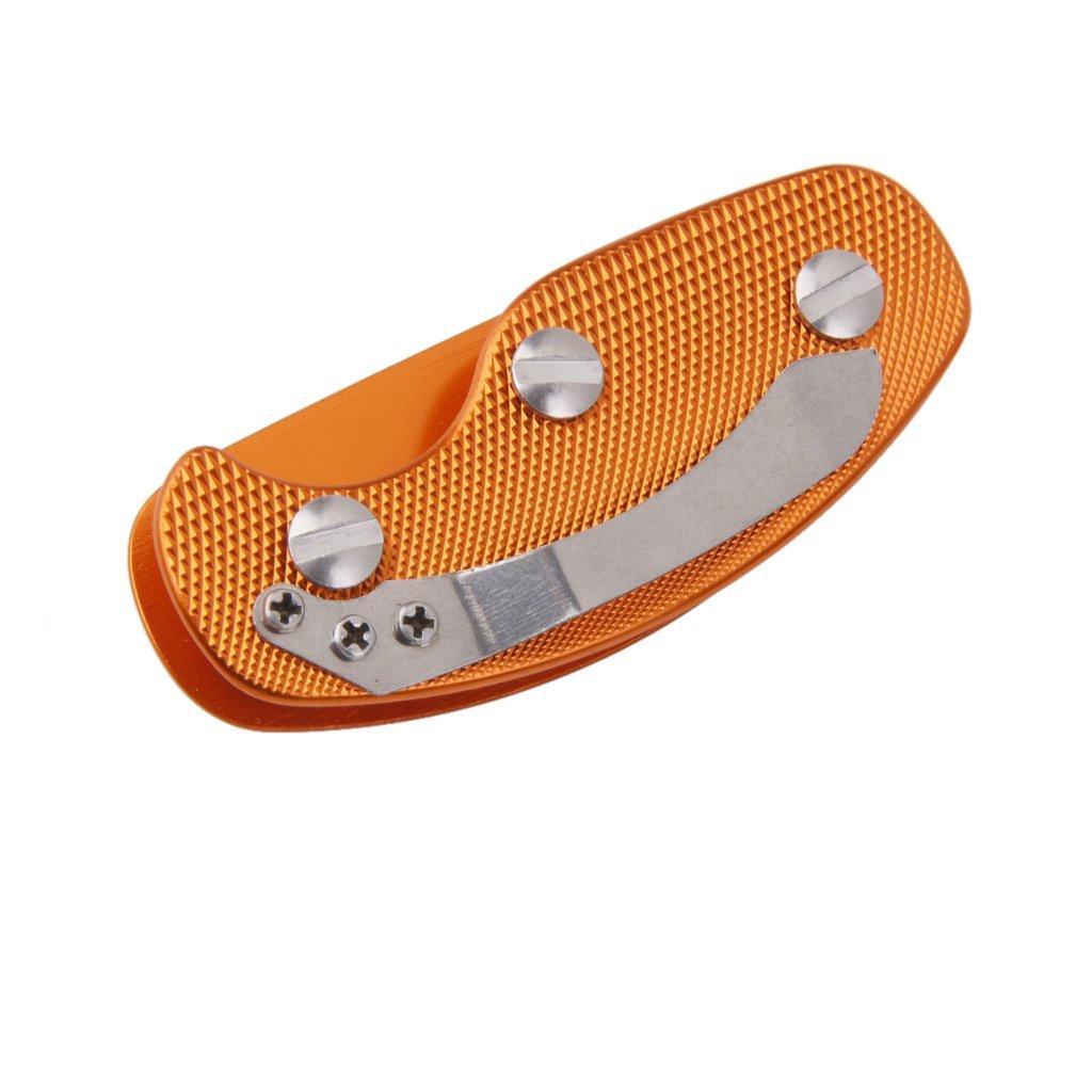 Sostenedor Organizador Carpeta de Llave Herramienta Llavero de Aluminio -Naranja Genérico