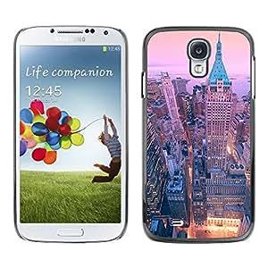 TopCaseStore / la caja del caucho duro de la cubierta de protección de la piel - Street New York City Skyline - Samsung Galaxy S4 I9500