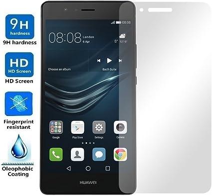REY Protector de Pantalla para Huawei P9 Lite Cristal Vidrio Templado Premium: Amazon.es: Electrónica