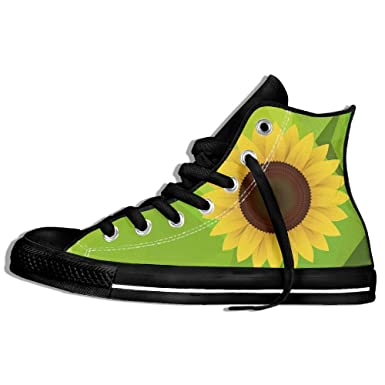 ae9687588 Image Unavailable. Image not available for. Color  Sunflower Design High  Top Classic Casual Canvas Fashion Shoes Sneakers For Women   Men