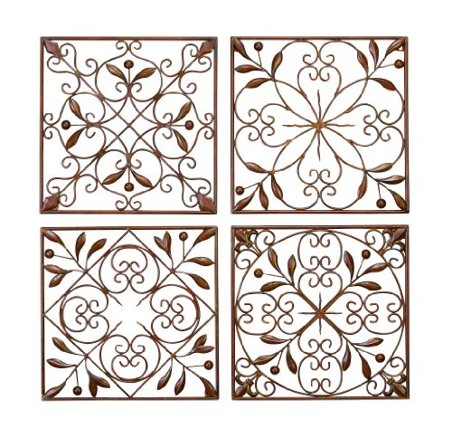 Deco 79 50035 Metal Wall Decor Set of 4