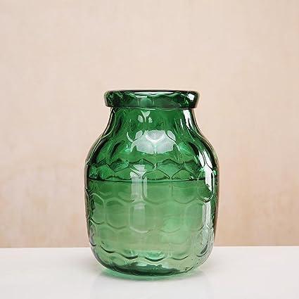 kaige Botella de flores hogar florero florero de cristal de Color transparente ornamento Floral dispositivo