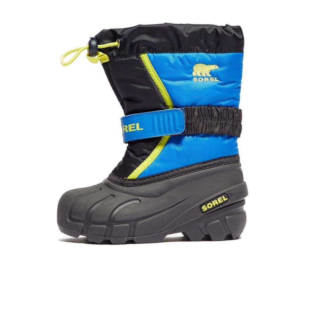 Sorel Boys' Flurry Pull On Winter Boot Blue/Blk 12 M US