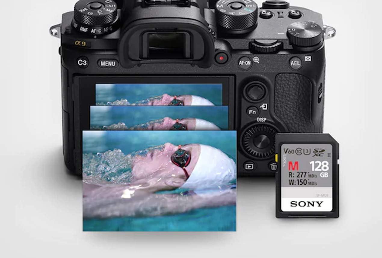 Tarjeta de Memoria SDHC SonyMemory 128 GB, SF-M, UHS-II, U3, V60, SDHC