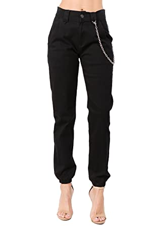 97918835 TwiinSisters Women's High Rise Slim Fit Color Jogger Pants - Size Small to  3X (Small
