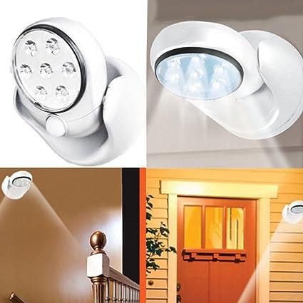 Rosba (TM) 6 V 7 LED lámpara de luz de sensor de movimiento inalámbrico