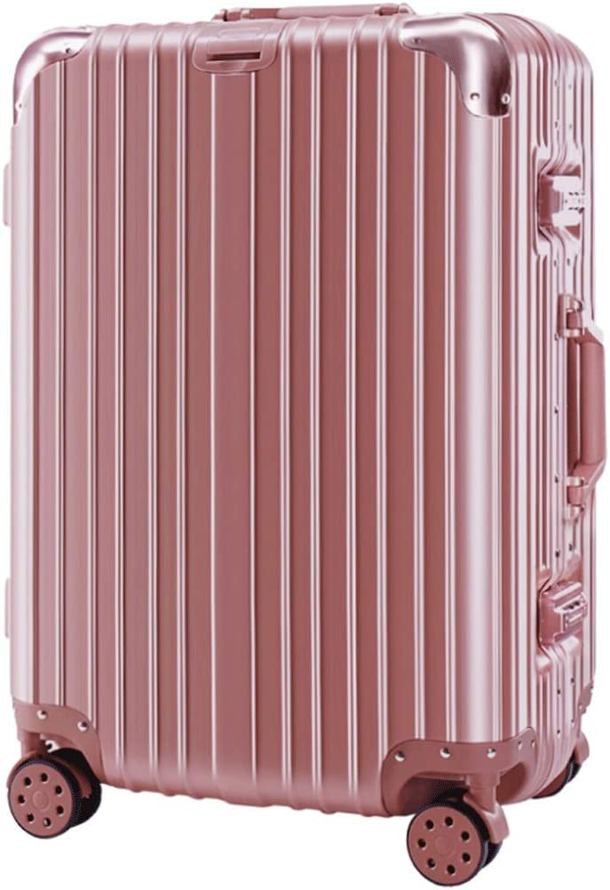 XFRJYKJ-Luggage box Leisure Suitcase 24 Inch Student Trolley Case 26 Inch Suitcase 20 Inch Lock Box Color : Rose Gold, Size : 22 inches