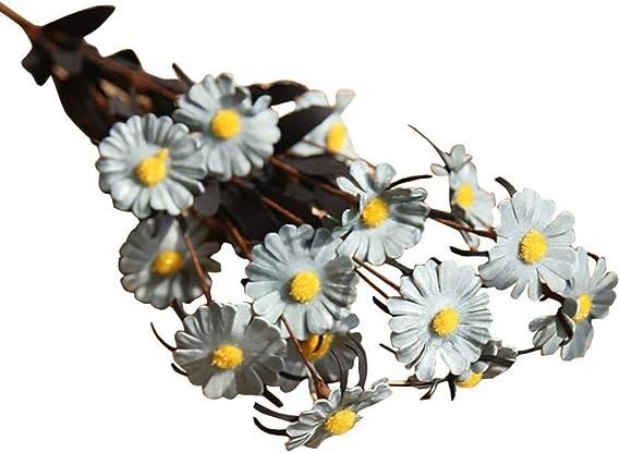 LUCKYCAT Romantique Artificielle Fleur de Feuille Maison Mariage Party Decor Fleur Artificielle de Haute qualit/é de r/étro Couleur