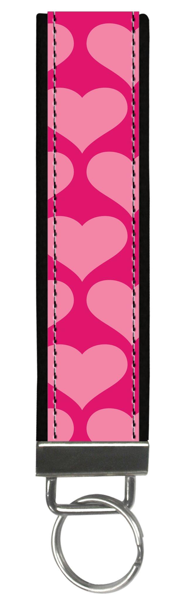 Snaptotes Pink Heart Love Valentine Wristlet Keyfob Keychain