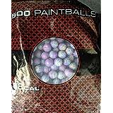 GI Sportz XBALL Certified Midnight Paintballs - Blue/Light Blue Shell - Aqua Fill