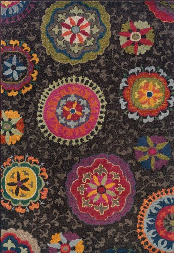 Oriental Weavers 1332S Kaleidoscope Round Area Rug, 7-Feet 8-Inch, Pink/Blue