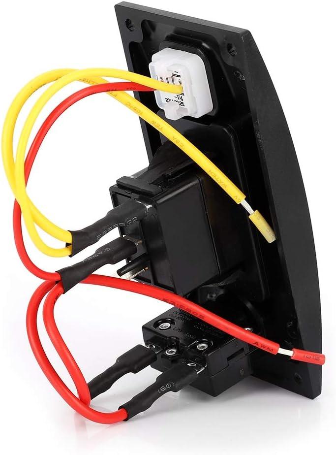 Famus ON-Off 12 24V 1 Gang Boat Marine LED Panel de Interruptor de Bomba de sentina de balanc/ín Marino con Interruptor de reinicio