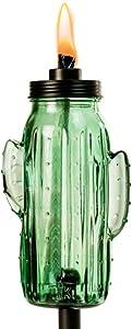 TIKI 1118069 Brand 65-inch Chiko Cactus Metal Green torch, 65.38