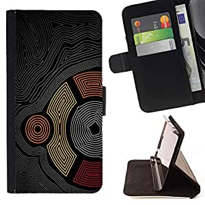 DEVIL CASE - FOR Samsung Galaxy S3 Mini I8190Samsung Galaxy S3 Mini I8190 - cool abstract maze pattern Aztec tribal line - Style PU Leather Case Wallet Flip Stand Flap Closure Cover