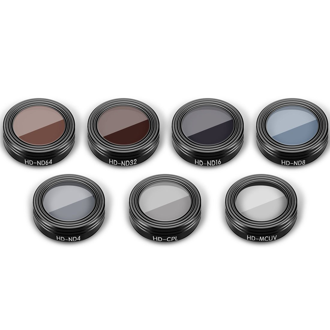 RuiyiF Filters Set for DJI Mavic Air RC Quadcopter, 7PCS ND64 ND32 ND16 ND8 ND4 CPL UV Mavic Air Accessories by RuiyiF