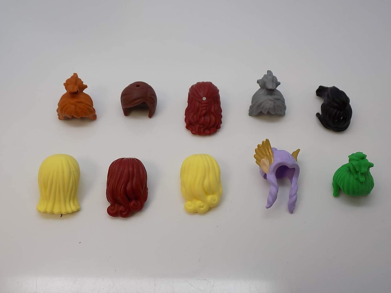 LEGO Lot of 10 Girl Minifigure Hair Pieces