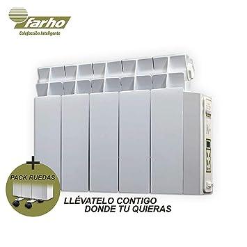 farho LPD + Juego de Ruedas Radiador Electrico de Bajo Consumo 525 W