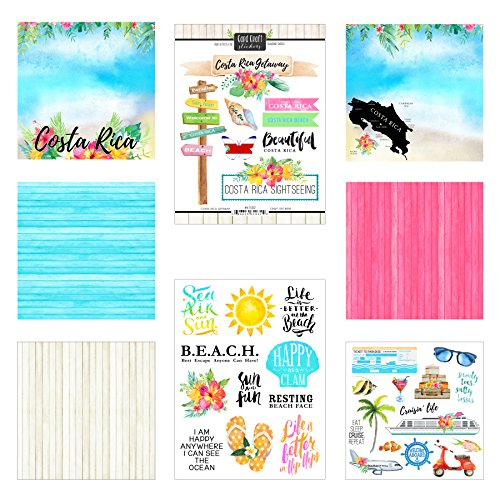 Scrapbook Customs Costa Rica Getaway Scrapbook - Sunglasses Rica Costa