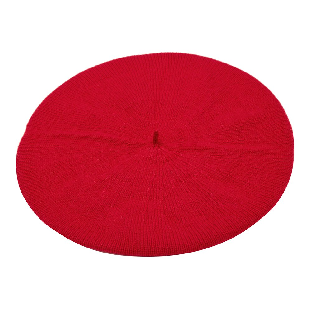 Pure Cashmere Beret, Red