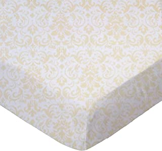 product image for SheetWorld Fitted Pack N Play Sheet - Cream Damask - Made In USA