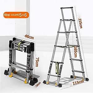 Aluminio Aleación Telescópico Escalera,extensión Escalera Plegables Antideslizante Portátil Escaleras De Mano Multifunción Escalera Para El Hogar Loft Oficina-a: Amazon.es: Bricolaje y herramientas