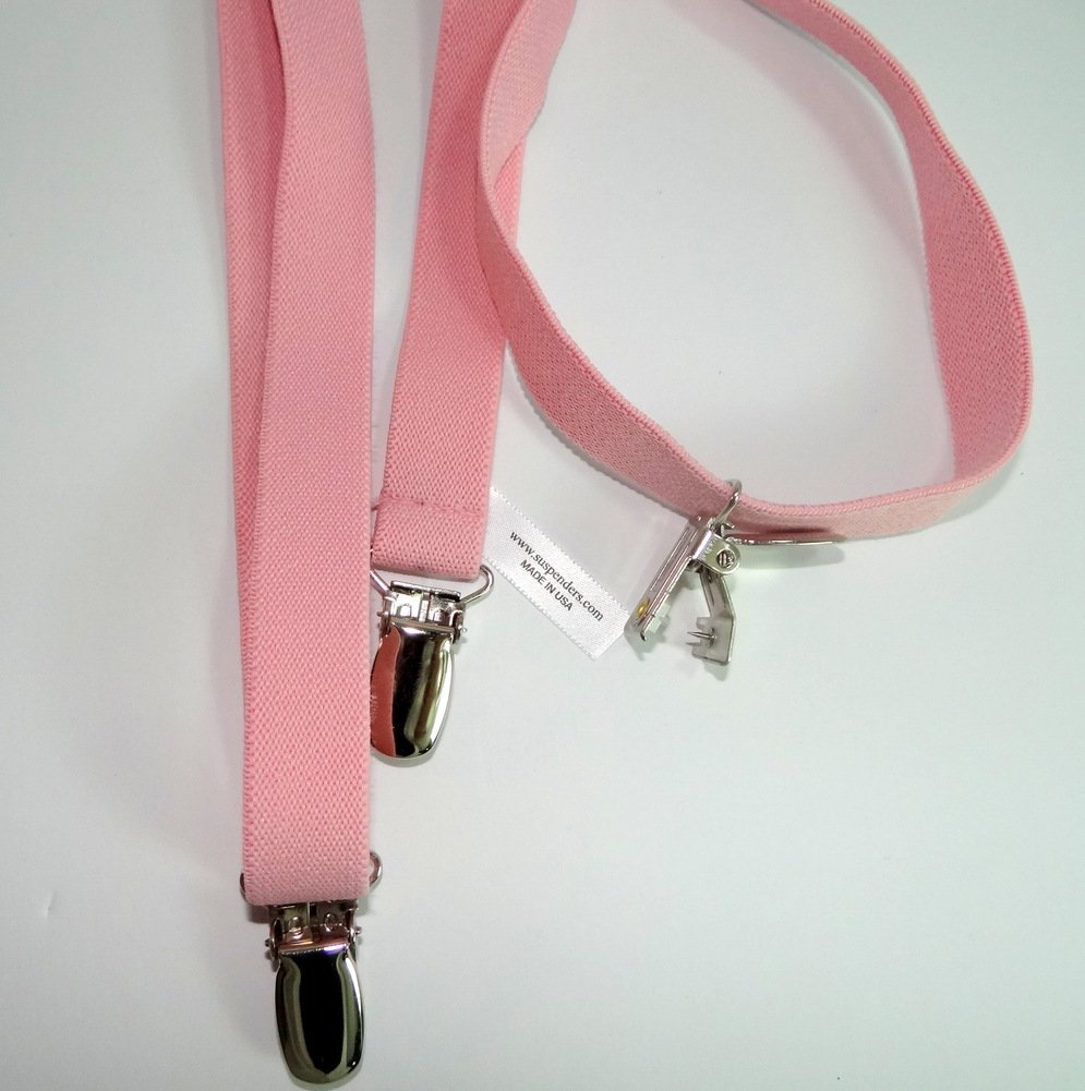 Hold-Ups Urban Youth 3/4'' wide Suspender in Y-back with No-slip Clips (Light Pink) by Hold-Up Suspender Co. (Image #4)