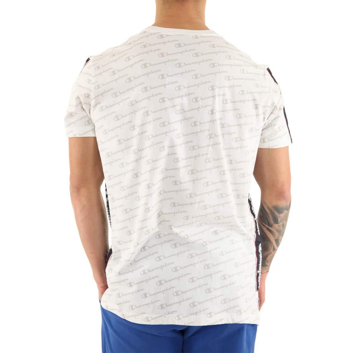 Champion Herren T-Shirt mit Allover-Print, Weiß B07P795DZ2 T-Shirts Sehr praktisch praktisch praktisch 933714
