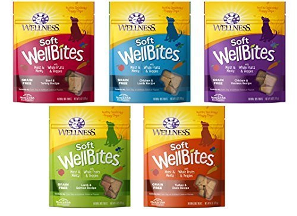 Wellness Wellbites Soft Chewy Variety Pack 5 flavors, 6 ounce bags