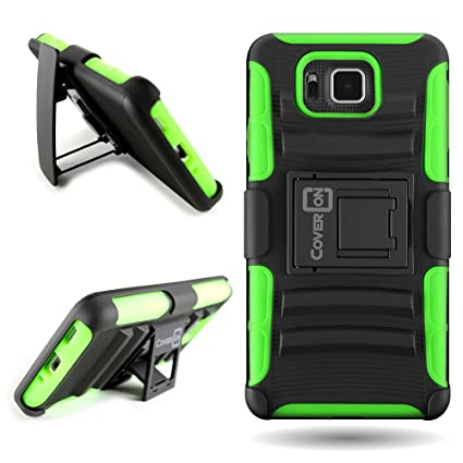 Amazon.com: Samsung Galaxy Alpha Case, cinturón Clip carcasa ...