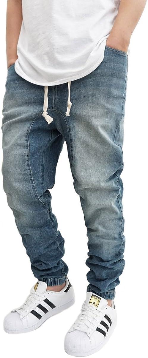 Victorious URBANJ Mens Vintage Drop Crotch Jogger Pants