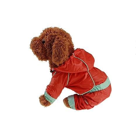 Twinsmall-Pet Clothes Mascota con Capucha, Perro Cachorro Rainwear Chubasquero Impermeable Chaqueta Ropa