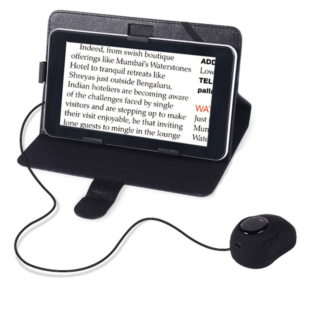 7-Inch Video Magnifier LCD Portable Electronic Visual Aid 3x-60x Zoom, Handheld Electronic Reading Aid for Low Vision Impaired, 12 Color Modes, AV/TV Output, Image Freeze