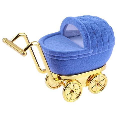 BESTOYARD Caja de joyería de Dibujos Animados Precioso Carro de Compras Forma Anillo Pendientes Display Holder