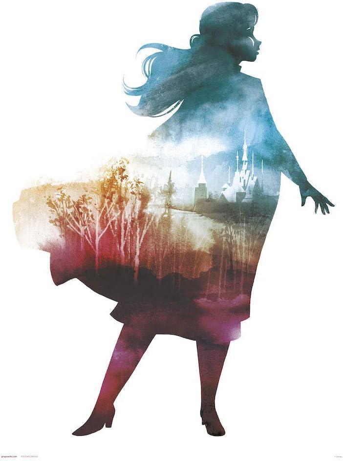 Grupo Erik Art Print Illustration Disney La Reine des Neiges Live Your Truth 30 x 40 cm