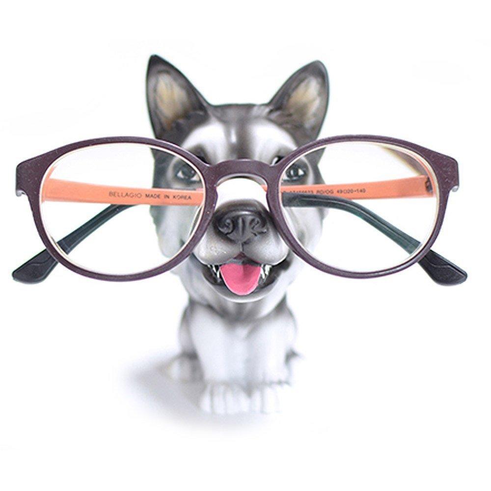 Yooce Puppy Dog Eyeglass Stand Sunglasses Holder Glasses Display Home Decor for Desk Husky