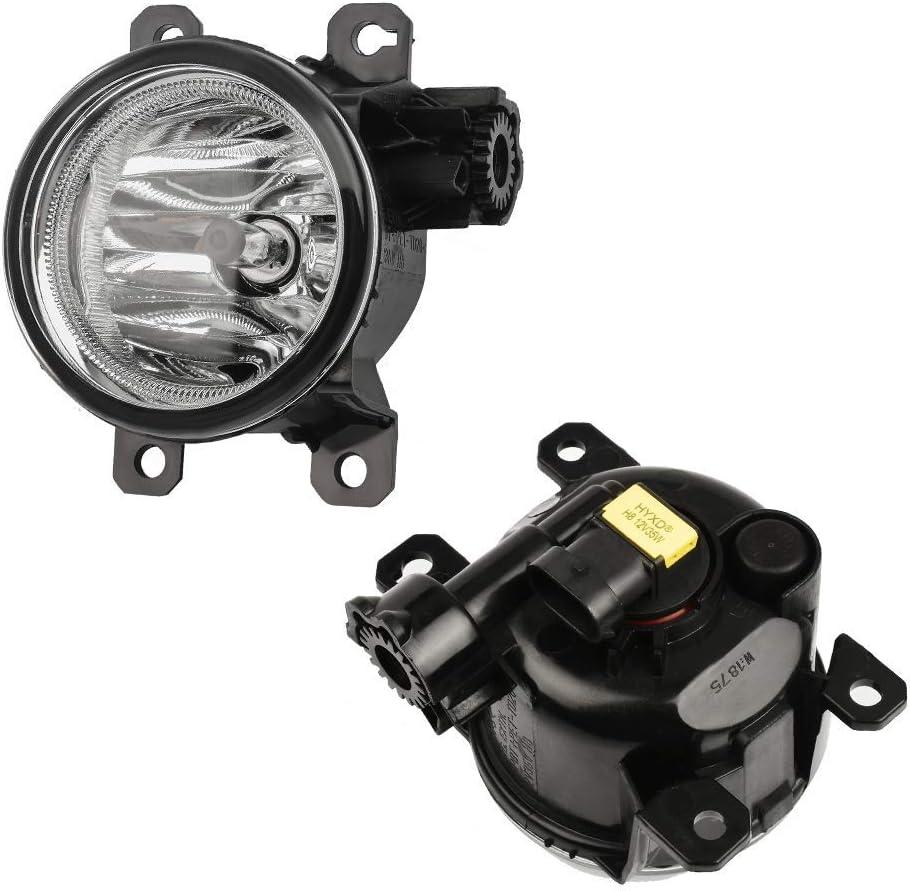 HUIQIAODS Clear Glass Lens Fog Light Assembly 12V 35W H8 H11 Fog Lamp Halogen Bulbs Fit for Honda New Fit 2018-2020 GK5
