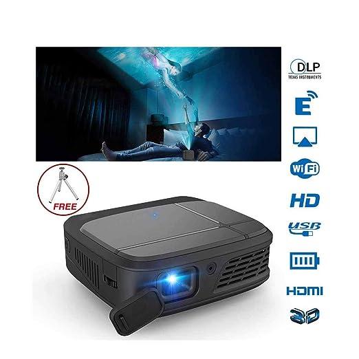 Ai LIFE Proyector Mini proyector portátil de Video DLP 6300 Lume ...