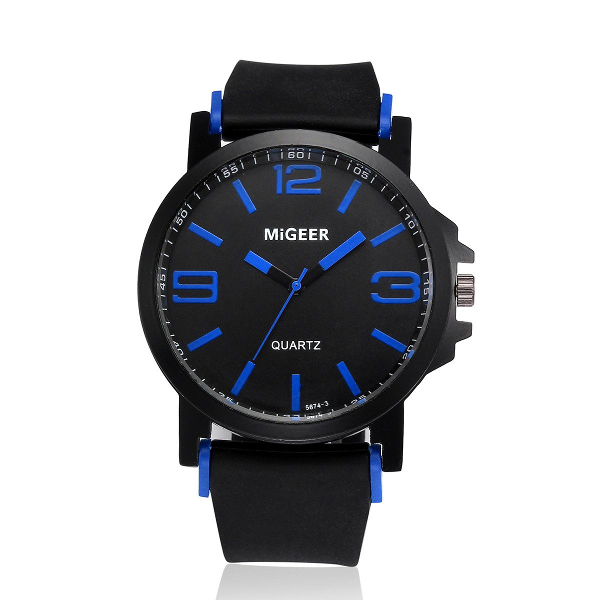 Hot Sale ! Gibobby Watches, Luxury Ultra Thin Wristwatches Chronograph Minimalist Silicone Strap Watches Simple Sport Analog Wrist Watches Gifts for Men