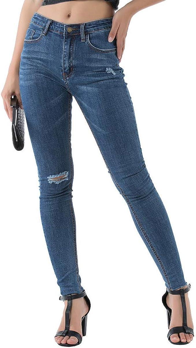 Jeans strappati regular fit Donna vita media