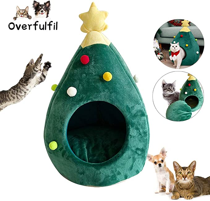 Amazon.com: Overfulfil - Casa para gatos con árbol de ...
