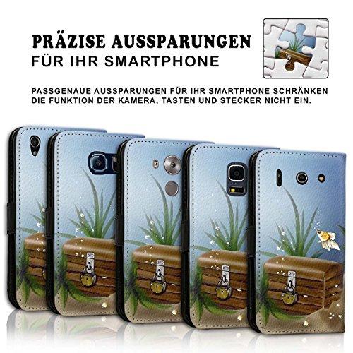 Wallet Book Style Flip Handy Tasche Case Schutz Hülle Schale Motiv Etui für Apple iPhone 4 / 4S - Design Flip MV172