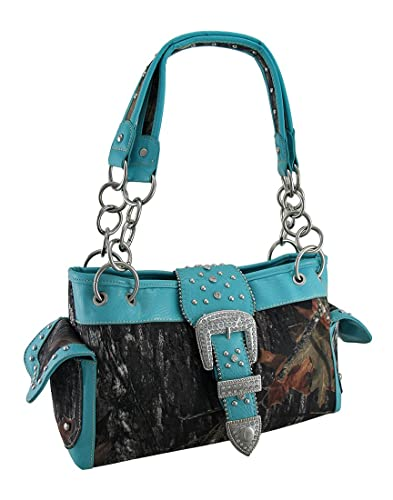 d5376263266e Camouflage Rhinestone Western Buckle Purse Blue Trim  Handbags ...