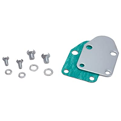 Spectre Performance 42463 Fuel Pump Block-Off Plate with Bolts for Small Block Chevy: Automotive