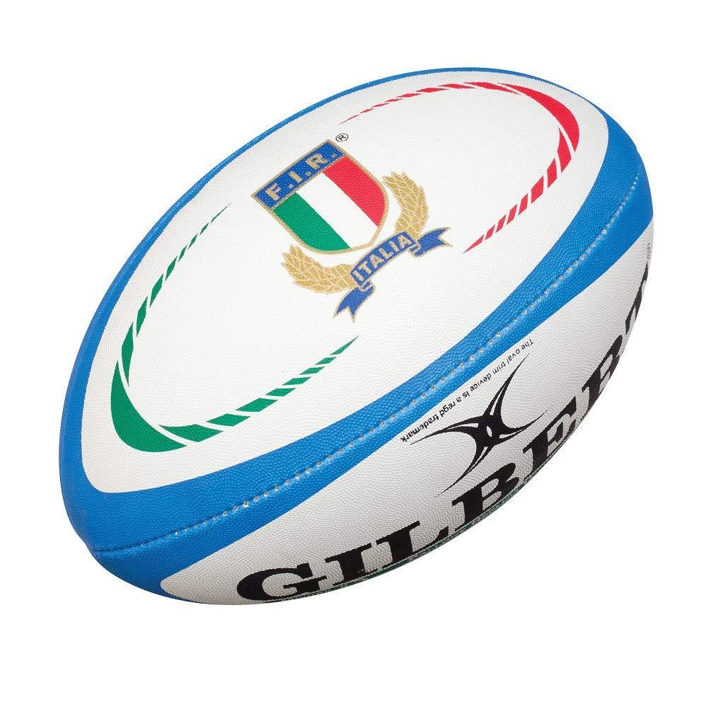 Gilbert Italie - Mini Ballon de Rugby Réplique Officielle - Bleu