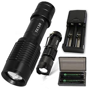 EcoGear FX LED Flashlight Kit (TK130), 1200 lumens