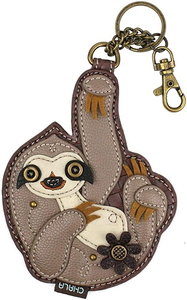 Sloth Zippered Key Chain Coin purse NEW