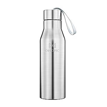 OMORC Termo, Doble Pared Botella de Agua de Acero Inoxidable Botella vacío Termo, Deportes, Fitness, Yoga, Camping, Coche o Viajes sin BPA 500 ML & ...