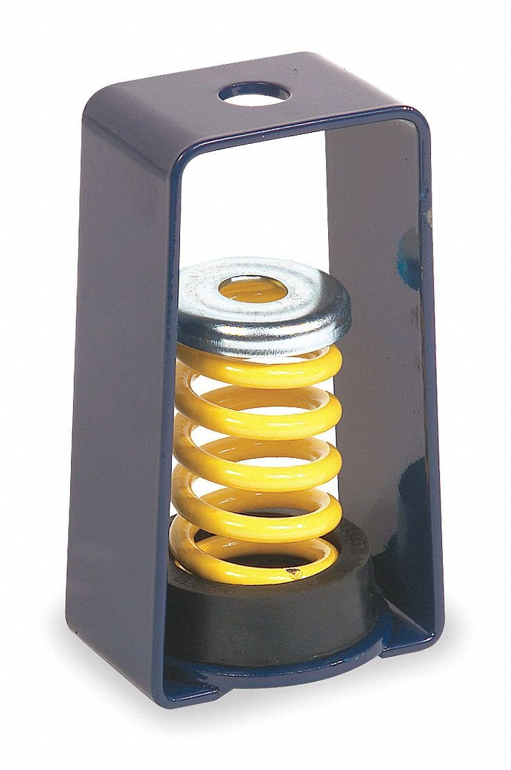 Hanger Mount Vibration Isolator, Spring Isolator Type, 230 to 310 lb. Capacity Range