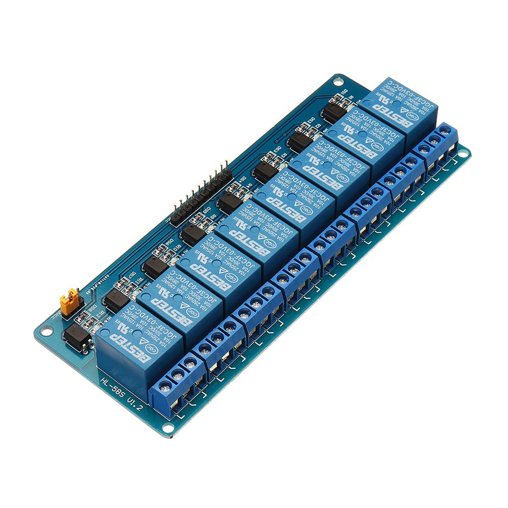 ROUHO 8 Channel 3.3V Relay Modul Optocoupler Driver Relay Control Board Low Level F/ür Arduino